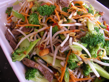 Asian Salad with Grilled Beef