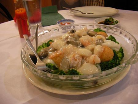 Seafood with Japanese Tofu