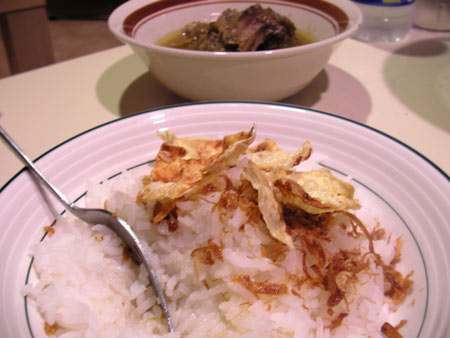 oxtail soup with rice