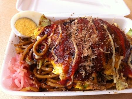 Yakisoba and Okonomiyaki