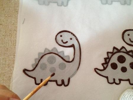 Chocolate dinosaur making 1