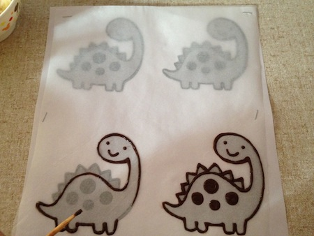 Chocolate dinosaur making 2