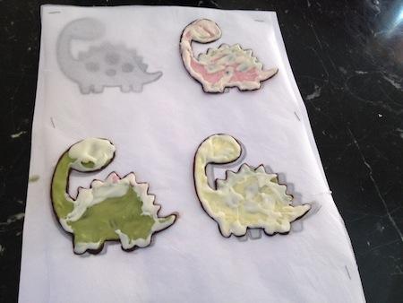 Chocolate dinosaur making 3